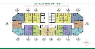 MẶT BẰNG TÒA HH1 - FLC GARDEN CITY ĐẠI MỖ